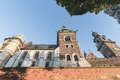 Wawel castle viewl on in krakow poland europe Royalty Free Stock Images