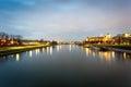 Wawel Castle And Vistula River...