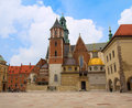 Wawel Cathedral in Krakow, Poland Royalty Free Stock Image