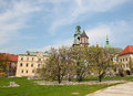 Wawel cathedral roman catholic church located wawel hill krakow poland Stock Image