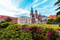 Wawel cathedral seen from the courtyard Stock Photo