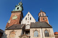 Wawel Clock Tower and Silver Bell Tower Royalty Free Stock Photo