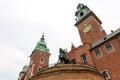 Wawel clock tower tadeusz kosciuszko monument sigismund and at Stock Image