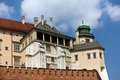 Wawel royal castle in cracow in poland view on Stock Images
