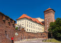 Wawel royal castle in krakow poland Stock Images