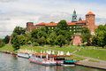 Wawel Royal Castle in Poland Stock Image
