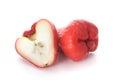 Wax apple on white background Stock Photos