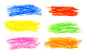 Wax crayon hand drawing background abstract Royalty Free Stock Images