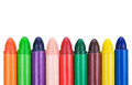 Wax crayons Stock Photo
