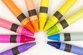 Wax crayons Royalty Free Stock Photo
