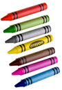 Wax Crayons on white Royalty Free Stock Photo