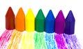 Wax för crayons sju Royaltyfri Fotografi