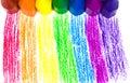 Wax för crayons sju Royaltyfri Foto