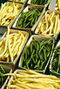 Wax and Green Beans Royalty Free Stock Images