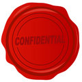 Wax seal with confidential Stock Photography