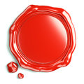 Wax seal of guarantee red trademark in d Stock Photos