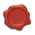 Wax seal red studio shot Royalty Free Stock Image