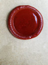 Wax stamp blank on old paper Royalty Free Stock Photo