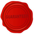 Wax stamp - guaranteed Stock Images