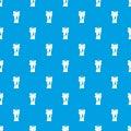 Waxen candle pattern seamless blue Royalty Free Stock Photo