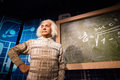 Waxwork of Albert Einstein on display Royalty Free Stock Photo