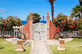 Way and door to the beach at luxury hotel Stock Photography