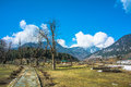 Way in garden pahalgam kashmir march Stock Images