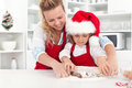 The way we make christmas cookies with mom Royalty Free Stock Photo