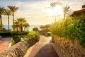Way to the beach Royalty Free Stock Photo