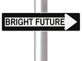 This Way To A Bright Future Royalty Free Stock Photo