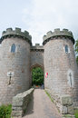 Way to the castle whittington in shropshire in england Royalty Free Stock Photo