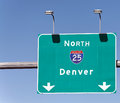 This Way to Denver Royalty Free Stock Photo