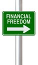 This way to financial freedom a modified one street sign on Royalty Free Stock Photo