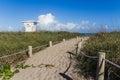 Way to Fort Pierce beach Royalty Free Stock Photo