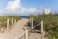 Way to Fort Pierce beach Royalty Free Stock Photo