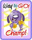 Way to go Champ greeting Royalty Free Stock Images