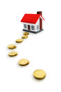 Way to the house coins and Stock Photography