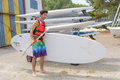 On way to paddle board Royalty Free Stock Photo