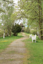 Way to summerhouse in springtime Stock Images