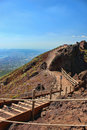 Way vesuvius ascension to on a sunny day Royalty Free Stock Image