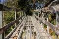 Way wood roller coaster Royalty Free Stock Photo