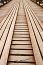 The way wooden bridge Stock Photo