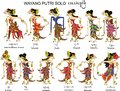 Wayang Putri Solo, Female And Ladies Characters, Indonesian Traditional Shadow Puppet