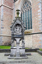 Wayside shrine christian at the church of our lady in bruges belgium Royalty Free Stock Photos