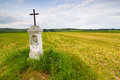 Wayside shrine polish countryside landscape Stock Photography