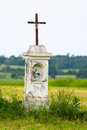 Wayside shrine polish countryside landscape Royalty Free Stock Photo