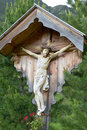 Wayside shrine in South Tyrol, Italy Royalty Free Stock Photos
