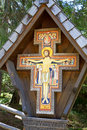 Wayside shrine in South Tyrol, Italy Royalty Free Stock Photo