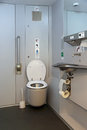 Wc sochi russia feb toilet paralympic trains swallow in the krasnodar territory equipped for people with disabilities Royalty Free Stock Photos