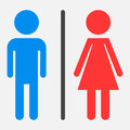 WC, toilet flat vector icon.